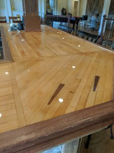 Reclaimed Bowling Alley Lane Bar Top